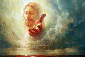 Jesus hand extended