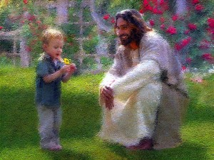 Jesus with a child